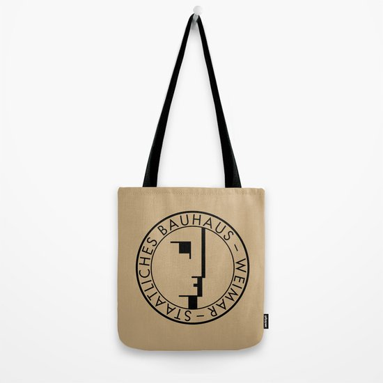 BAUHAUS LOGO VINTAGE Tote Bag By THE USUAL DESIGNERS