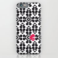 iPhone & iPod Case featuring Skullz and Lace by Alexis Chong