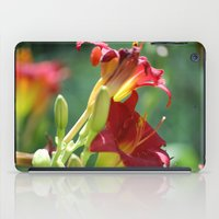 Red Flowers iPad Case