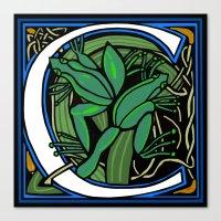 Celtic Frog Letter C Canvas Print