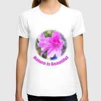 Pretty Purple Garden Flo… Womens Fitted Tee White SMALL