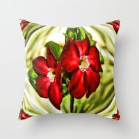 Exotic Flower Unrap Throw Pillow