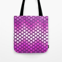 Dot Chevron: Pink Plum Tote Bag