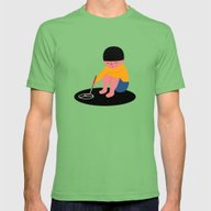 Peace Please Mens Fitted Tee Grass SMALL
