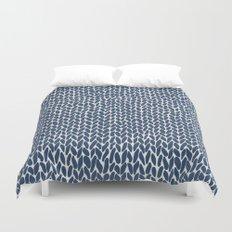 Hand Knit Navy Duvet Cover