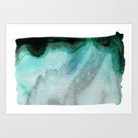Mint Sea Ombre Art Print
