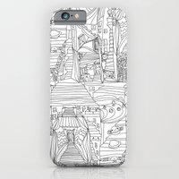 doodle cartoon village iPhone 6 Slim Case
