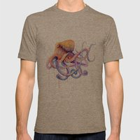 Octopus II Mens Fitted Tee Tri-Coffee SMALL