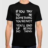 BEING NOTHING 2 Mens Fitted Tee Black SMALL