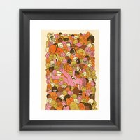 Crowd Surfer Framed Art Print