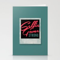 Selfie Game Strong Stationery Cards
