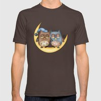 Owls Mens Fitted Tee Brown SMALL