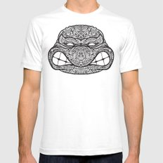 Teenage Mutante Lucha Turtles Mens Fitted Tee White SMALL