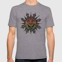 sun face - rasta Mens Fitted Tee Athletic Grey SMALL