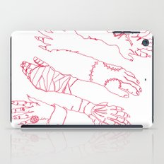 Classic Horror Hands (Red Line) iPad Case