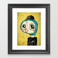 Portrait Of Doraemon's C… Framed Art Print