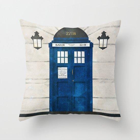 Doctor Who & Sherlock Throw Pillow