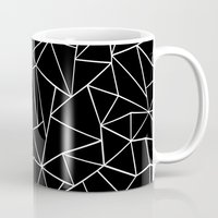Abstraction Outline Blac… Mug