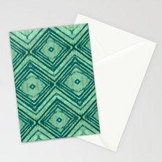 watercolor diamond seafoam green Stationery Cards
