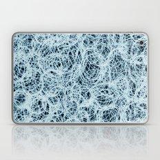 Powder Blue Ink on Black  Laptop & iPad Skin