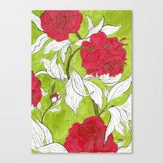 red peonies Canvas Print