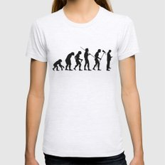 Evolution to Mobile  Womens Fitted Tee Ash Grey SMALL