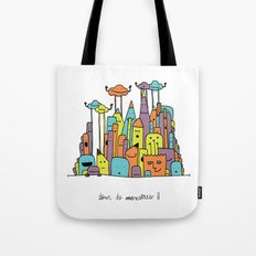 Monster Tower II Tote Bag