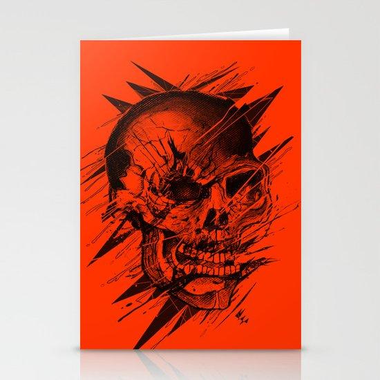 Skull's Not Dead Stationery Card