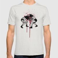 Bull Vs Bear Mens Fitted Tee Silver SMALL