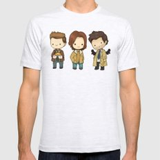 Chibi Dean Sam Castiel Supernatural Mens Fitted Tee Ash Grey SMALL