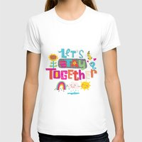 together Womens Fitted Tee White SMALL