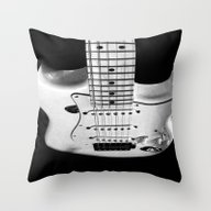 While My Guitar Gently W… Throw Pillow