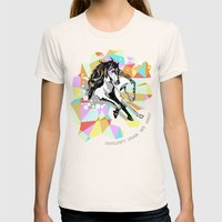 Comic Art: Wild Hearts Womens Fitted Tee Natural SMALL