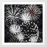 firework flowers Art Print