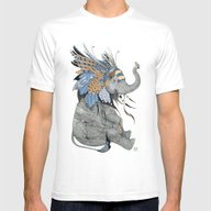 Hybrid Elephant Mens Fitted Tee White SMALL