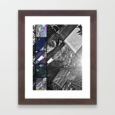 spider web. Framed Art Print