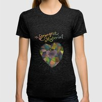 The Strongest Material Womens Fitted Tee Tri-Black SMALL