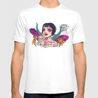 LUCILLE Mens Fitted Tee White SMALL
