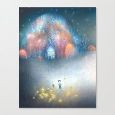 A Field of Fireflies Canvas Print