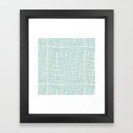 Blue Scribbles 06 Framed Art Print