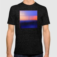 Abstract Sunset Mens Fitted Tee Tri-Black SMALL