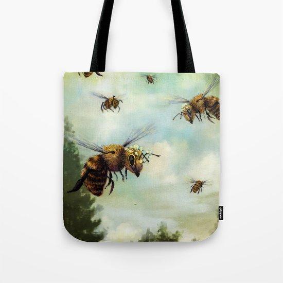Crown of Bees Tote Bag