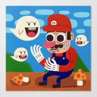 Canvas Print featuring Tripping In The Mushroom… by Jack Teagle