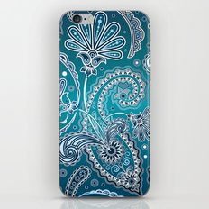 Blue Paisley iPhone & iPod Skin