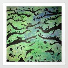 earth & sea Art Print