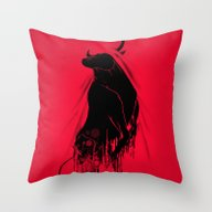 Revenge Of The Toro Throw Pillow