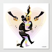 Love from another galaxy Canvas Print