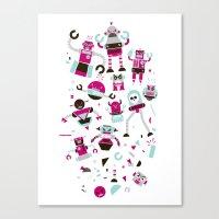 Robots! Destroy! Destroy… Canvas Print