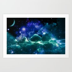 Galaxy CloudS Art Print