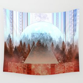Wall Tapestry - abstract floral forest 2 - Bekim ART